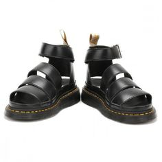 10b5d27e535 Dr. Martens Womens Black Romi Y Strap Sandals ( 130) ❤ liked on Polyvore