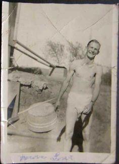 Vintage b&w snapshot- wash