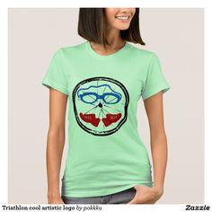 Shop Triathlon cool artistic logo T-Shirt created by pokkku. Triathlon Tattoo, Triathlon Gear, Wardrobe Staples, Fitness Models, T Shirts For Women, Female, Logo, Shirt Ideas, Casual