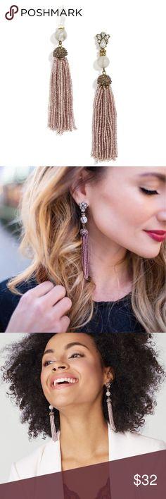 28954b6f3764 BaubleBar Pirkko Tassel Earrings BaubleBar pirkko tassel drop earrings in  purple and antique gold color.