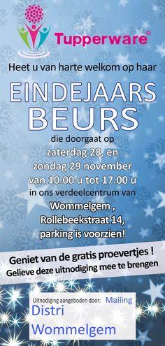 Tupperware - Eindejaarsbeurs! -- Wommelgem -- 28/11-29/11