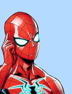 Peter Parker in Avengers Marvel Comics, Marvel Art, Marvel Heroes, Marvel Characters, Ms Marvel, Captain Marvel, Spiderman Art, Amazing Spiderman, Spectacular Spider Man