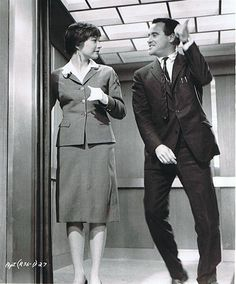 """Shirley MacLaine y Jack Lemmon en """"El Apartamento"""", 1960"""