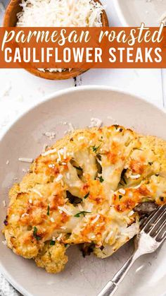 Sliced and oven roasted cauliflower steaks make a gorgeous presentation. A low carb side dish for veggie lovers! I wouldn't call myself a veggie lover. For many years I was content with canned corn and green beans if I had to have veggies touch my plate. But in my adult life, I've learned the beauty of roasting vegetables. Parmesan Roasted Cauliflower, Cauliflower Recipes, Whole 30 Recipes, Real Food Recipes, Healthy Recipes, Roasted Vegetables, Veggies, Canned Corn, Low Carb Side Dishes