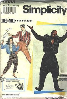 MC Hammer pants, sewing pattern...    STOP! Hammer time! ;)