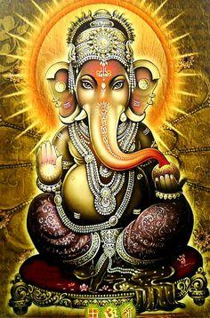 Blessing Ganesh Ji Hindu God Poster spiritual attractive X Ganesh Images, Shiva Shakti, Indian Art, Lord, Deities, Art, Lord Ganesha