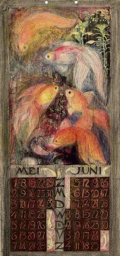 Leo Visser (Dutch, 1880-1950). Kalender voor het jaar 1927.