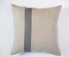 Decorative pillow cover - grey line pillow - Color block pillows Linen cushion case/Natural linen pillow covers in custom size  pillows 0196 - pinned by pin4etsy.com