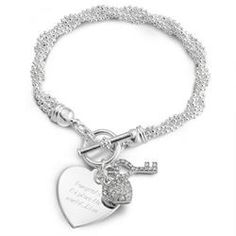 Personalized Key To My Heart Bracelet Gift  $40.00