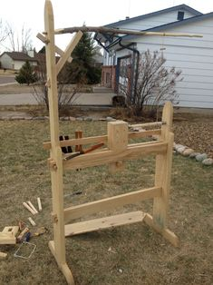 I made a collapsible spring pole lathe last year. This was more than just a project for a Society for Creative Anachronism (SCA) arts and sciences competition, it was also a tool which I could use … Green Woodworking, Woodworking Garage, Woodworking For Kids, Woodworking Joints, Woodworking Workshop, Woodworking Projects, Woodworking Organization, Wood Turning Lathe, Wood Turning Projects