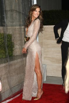 Alessandra Ambrosio - Arrivals at the amfAR Inspiration Gala 2013