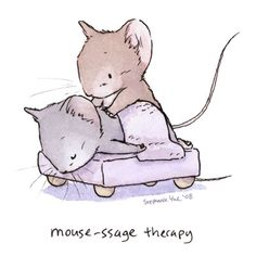 Mouse-ssage Therapy by Quezzie.deviantart.com on @DeviantArt