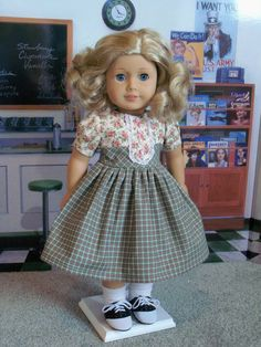 1940's School Dress / Clothes for American Girl Doll by Farmcookies