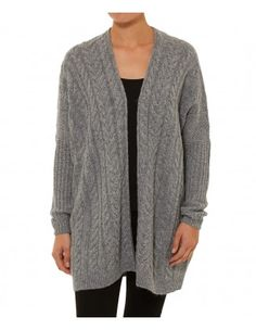 CABLE ZIP UP CARDI