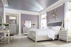 Modest Silver Bedroom Set Design
