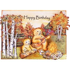 Campside #Birthday fun #card from #heartfeltcreations