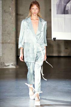 MM6 Maison Martin Margiela (Spring-Summer 2015) R-T-W collection at New York Fashion Week  #AmalieSchmidt #AnnelyBouma #AnyaLyagoshina #DashaDenisenko #DashaGold #EmmyRappe #EsmeraldaSeay-Reynolds #GeorgiaHilmer #HedvigPalm #KaiNewman #KasiaJujeczka #KatHessen #KidPlotnikova #LinaSpangenberg #MaeMeiLapres #MariqueSchimmel #MM6byMaisonMartinMargiela #MonaMatsuoka #MortaKontrimaite #NewYork #OlaMunik #PhillipaHemphrey #RosemarySmith #SophieTouchet #YsaunnyBrito #YuliaMusieichuk