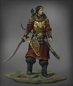 Mongolian warrior concept, Naranbaatar Ganbold