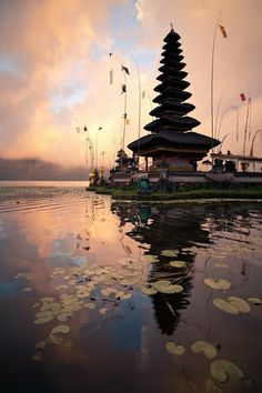Pura Ulun Batu....Bali temple surrounded by water at the lake......Bali,indonesia