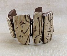 .Lori Wilkes, bone bracelet 3. Faux bone technique, polymer clay