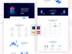 Hosting & Domain Landing Page by Creative Hub Creative Hub, Landing Page Design, Ui Kit, Modern Colors, Design Development, Templates, How To Plan, Ux Design, Blog