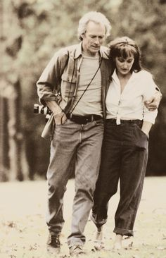 "Meryl Streep, Clint Eastwood in ""The Bridges of Madison County"" (1995). Director: Clint Eastwood."