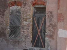 I saw these wonderful warehouse door and window at the old Tyler train station in Texas.