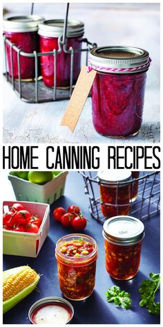 Give these home canning recipes a try this summer! Delicious ways to preserve summer produce!