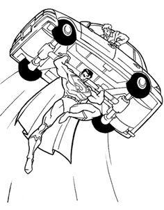 Simon Superman Coloring Page