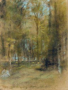 Edgar Degas (1834-1917) Sous-bois 1873 (35,2 x 26,4 cm)