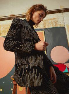 Embellished velvet blazer - View all - Ready to wear - Uterqüe Spain - Canary Islands