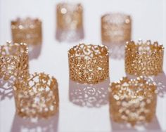 gold lace rings by Carla Nuis