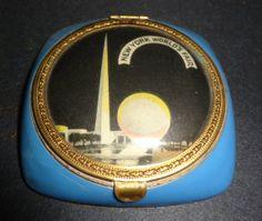 Vintage 1939 New York N Y WORLD's FAIR Ladies Blue by Neetorama, $69.00