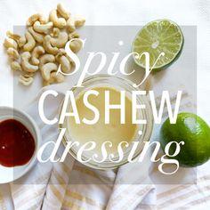 Copycat Sweetgreen's Spicy Cashew Dressing Healthy Salads, Healthy Fats, Easy Healthy Recipes, Vegan Recipes, Snack Recipes, Healthy Eating, Cooking Recipes, Snacks, Raw Cashews