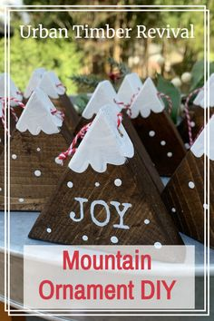 Christmas Wood Crafts, Handmade Christmas, Christmas Crafts, Christmas Ornaments, Diy Home Decor Projects, Decor Crafts, Easy Crafts, Mountain Style, Ornament Tutorial