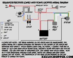 simple motorcycle wiring diagram for choppers and cafe racers \u2013 evanregulator rectifier combo with points wiring diagram