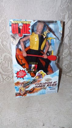 GI. JOE THE ADVENTURES OF CHALLENGE AT HAWK RIVER 35 YEARS W RAFT 1998 NIB! #Hasbro