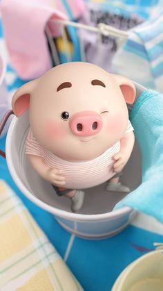 Pig Wallpaper, Animal Wallpaper, Disney Wallpaper, This Little Piggy, Little Pigs, Cute Piglets, 3d Art, Pig Illustration, Illustrations