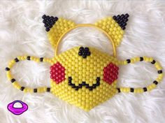 Hey, I found this really awesome Etsy listing at https://www.etsy.com/listing/218863443/pikachu-kandi-mask-ears-set-kandi-mask