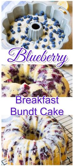 This easy blueberry breakfast bundt cake recipe tastes just like homemade blueberry muffins. Simple and easy breakfast idea for a crowd, Christmas morning or for brunch. recipes for a crowd brunch Breakfast Bundt Cake, Breakfast And Brunch, Breakfast Dishes, Birthday Breakfast, Brunch Cake, Breakfast Parties, Blueberry Breakfast Cakes, Breakfast Dessert, Blueberry Muffin Cake