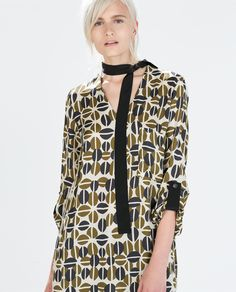 Image 2 of CONTRAST TIE PRINT TUNIC from Zara