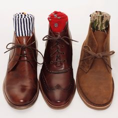 Fall boots and Taft socks.