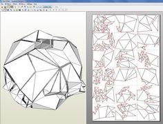 С 3D-модель на плоской Шаблон: PEPAKURASo первая попытка построения структуры с технических материалов был полностью из бюджета, так что я д ...