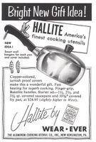 Wear Ever Hallite Saucepan 1954 Ad Picture