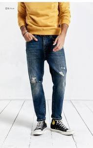 c9768dbcd85bd4 2019 Casual Jeans Men Fashion Ankle-Length Pants Slim Fit Denim Pants  Trousers Brand Clothing