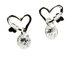 Kiss of Butterfly Clear Cubic Zirconia Ear Stud,925 Sterling Silver, 8mm X 12mm Fashion Every Day,http://www.amazon.com/dp/B00HKNJR3G/ref=cm_sw_r_pi_dp_2I2Vsb1HE5VB3KF2