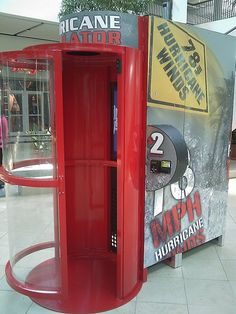 A Hurricane Simulator - would you try one?