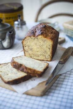 Banana bread sugar sweet coffee bake