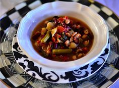 #SexyShred Easy Minestrone Soup Recipe    Clean it up: 1) make your own vegetable broth, 2) buy and make dry beans, 3) make sure the pasta you use is 100% whole wheat organic pasta.