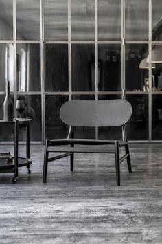 the Ferdinand Lounge Chair, designed by Danish-based OeO Design Studio Table Design, Chair Design, Furniture Design, Ard Buffet, Interior Desing, Gray Interior, Lounge Chair, Nordic Design, Take A Seat